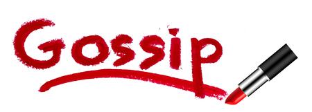 chitchat: gossip lipstick concept