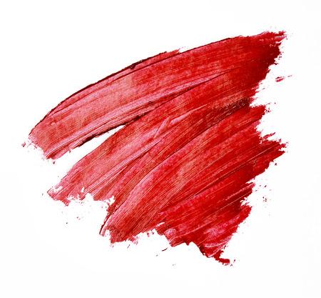 Rouge à lèvres rouge coulé isolé Banque d'images - 60575275