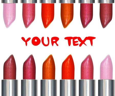 Lipsticks with text