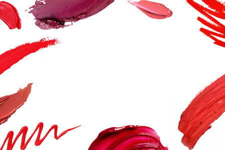 Smudged lipstick abstract texture frame