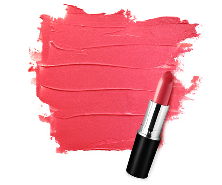 Abstract painted red lipstick textured background with blank space Banque d'images - 106138221