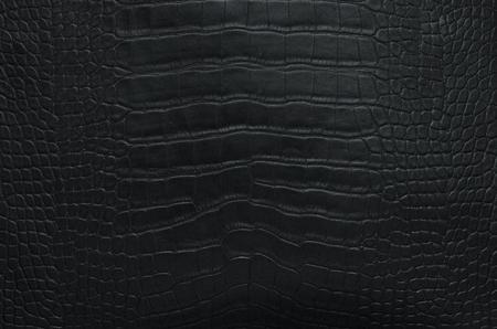 Closeup Black crocodile leather texture background Banque d'images - 106138232