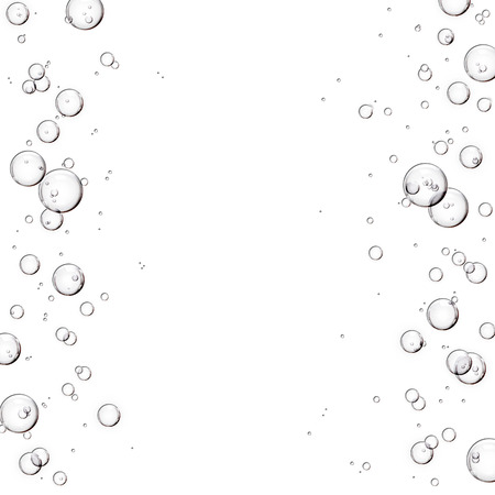 Bubbles or skincare serum frame with copy space on white background Banque d'images - 106138264