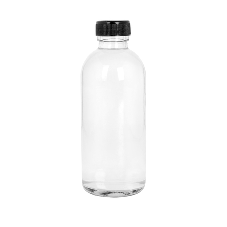 Transparent cosmetic or medicine bottle on white Banque d'images - 106138269