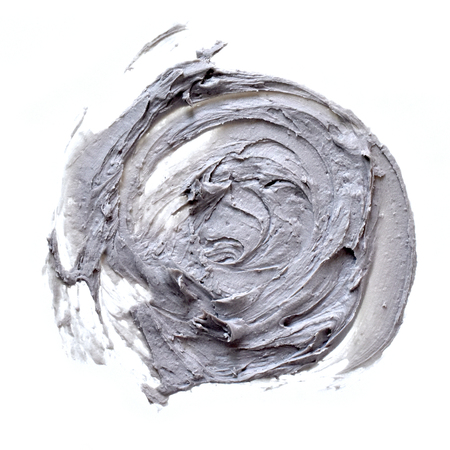 Smear Clay Mask for face isolated on a white background