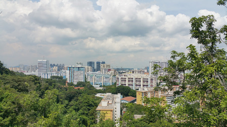 hdb: View of Singapores HDB from Mount Faber park (Singapore)