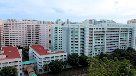 Singapore Public Housing, Urban Landscape HDB flat