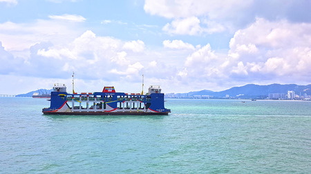 Penang Ferry service with Georgetown at the background