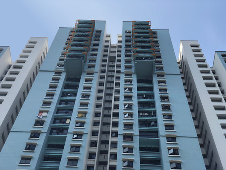 Facade of Singapore residential buildings