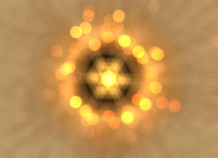 Abstract of shiny light bokeh background in circle Stock Photo