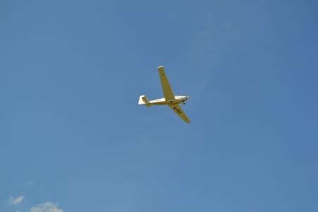 blau: Flugzeug Stock Photo