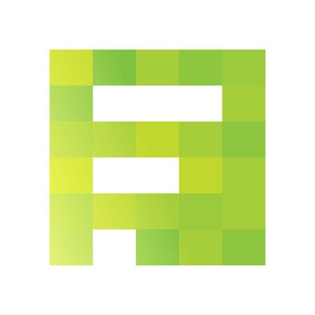 letter f: Trendy, vibrant and colorful concept vector design template