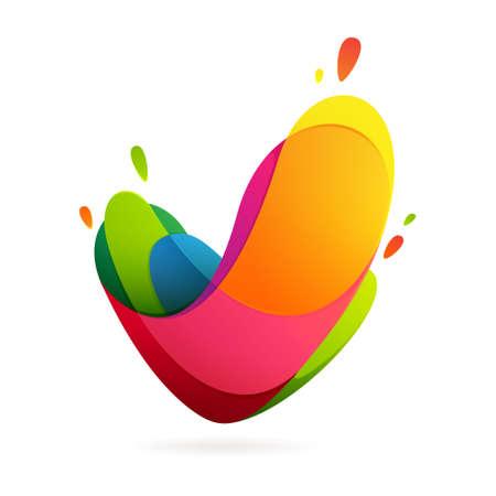 tipos de letras: De moda, vibrante y colorido concepto vector plantilla de dise�o