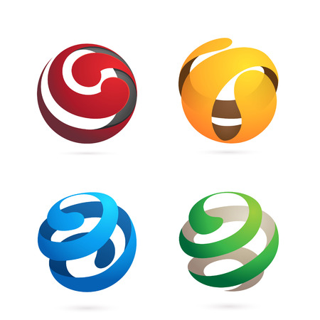 espiral: De moda, vibrante y colorido concepto vector plantilla de diseño