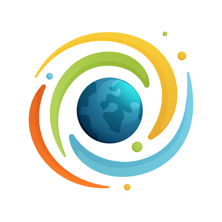 universum: Trendy, lebendige und farbenfrohe Konzept Vektor-Design-Vorlage Illustration