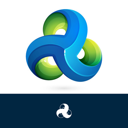 Three volume looped infinity. Infinite loop. Icon for the application or Web site