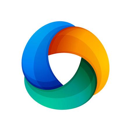 bucle: Tres volumen bucle infinito. Bucle infinito. Icono de la aplicación o sitio web