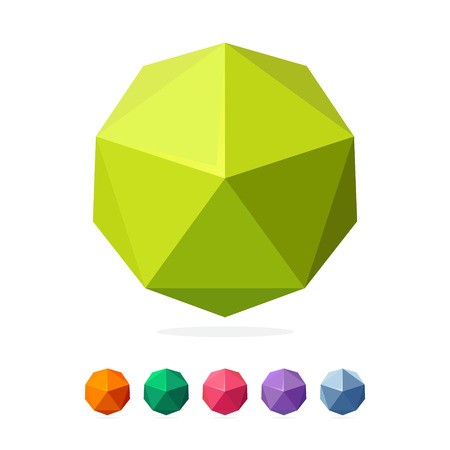 low glass: Sphere trendy, vibrant and colorful concept. Vector design template elements for your application or company branding.