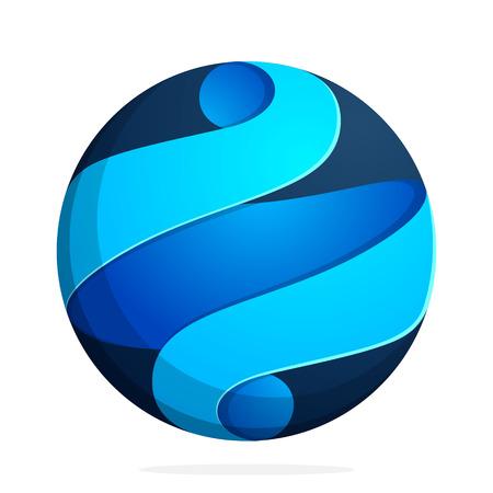 espiral: Esfera concepto de moda, vibrante y colorido. Vector de elementos de plantilla de diseño para su aplicación o marca de la empresa. Vectores