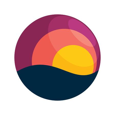 sole: Sfera di tendenza, vivace e colorata concetto. Vettore modello struttura elementi per l'applicazione o la società di branding.