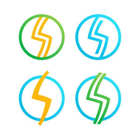 logos de empresas: Carta de moda, colorido concepto plana. Vector de elementos de plantilla de diseño para su aplicación o identidad corporativa.