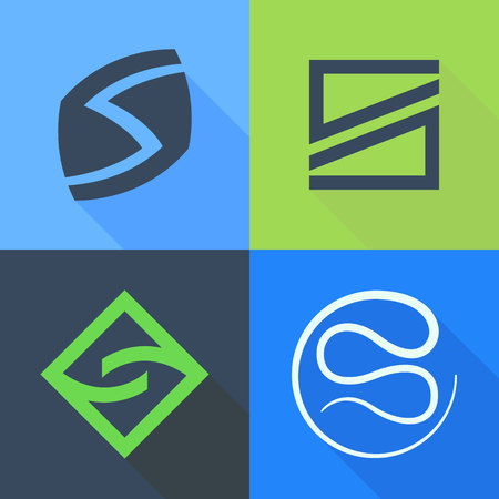letter s: Letter trendy, flat colorful concept. Vector design template elements for your application or corporate identity. Illustration