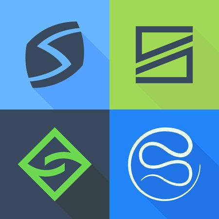 lettre s: Lettre à la mode, coloré concept plat. Template vecteur de conception éléments pour votre application ou de l'identité d'entreprise.