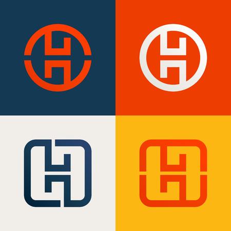 empresas: Carta de moda, colorido concepto plana. Vector de elementos de plantilla de diseño para su aplicación o identidad corporativa.