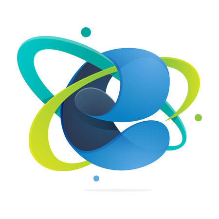 手紙体積カラフルな概念。あなたのアプリケーションや企業のアイデンティティのベクトル デザイン テンプレート要素です。