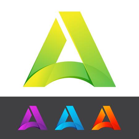 logos de empresas: Volumen Carta colorido concepto. Vector de elementos de plantilla de diseño para su aplicación o identidad corporativa.