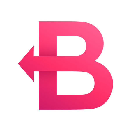 lettre alphabet: Volume color� concept Lettre. Template vecteur de conception �l�ments pour votre application ou de l'identit� d'entreprise.