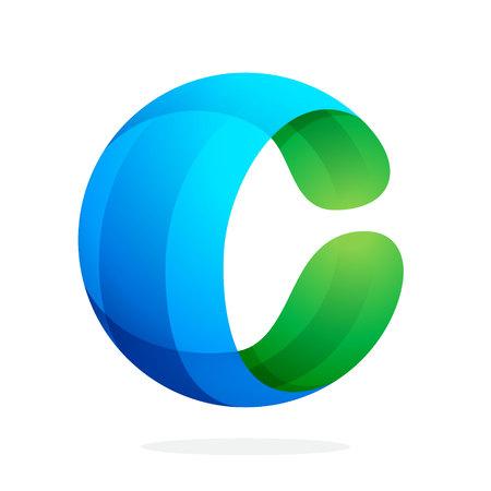 Volume coloré concept Lettre. Template vecteur de conception éléments pour votre application ou de l'identité d'entreprise. Banque d'images - 44888152