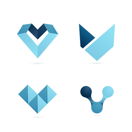 letter: Letter volume colorful concept. Vector design template elements for your application or corporate identity.