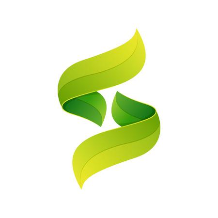 lettre s: Volume coloré concept Lettre. Template vecteur de conception éléments pour votre application ou de l'identité d'entreprise.