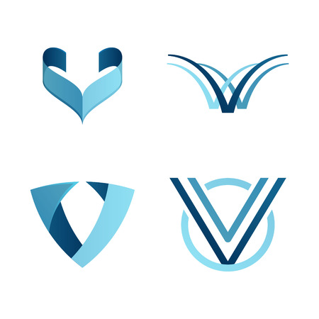 letter v: Letter volume colorful concept. Vector design template elements for your application or corporate identity.