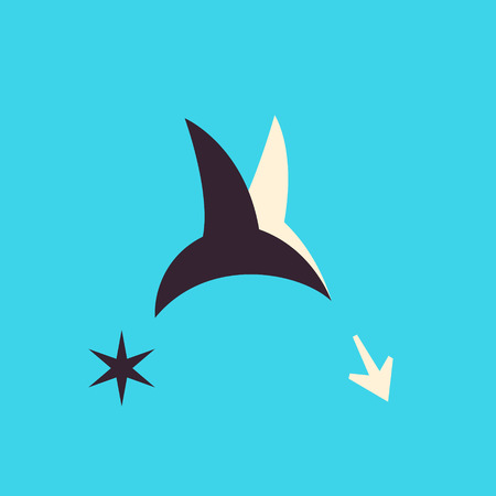 birds of paradise: Animal design template elements for your application or company or sport team branding