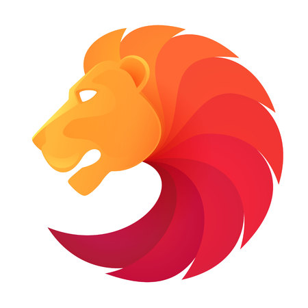 lion king: Animal design template elements for your application or company or sport team branding