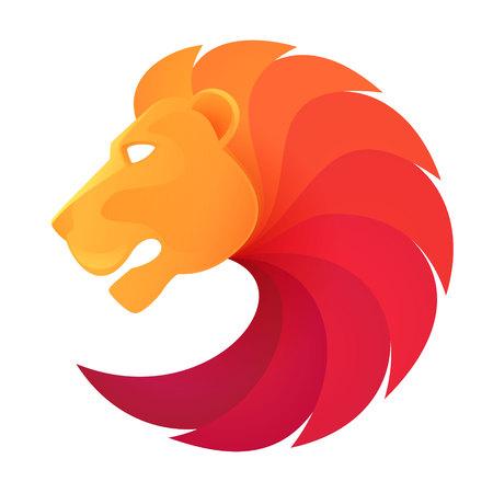 leones: Elementos de plantilla de diseño de animales para su aplicación o empresa o equipo de deporte de marca Vectores