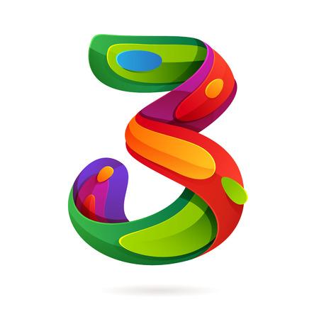 Número multicolor vector elementos de plantilla de diseño para su aplicación o identidad corporativa. Foto de archivo - 44933343