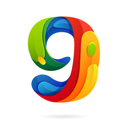 number icon: Number multicolored vector design template elements for your application or corporate identity.