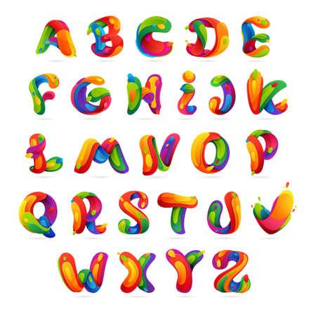 lettres alphabet: Éléments multicolores Lettre de modèle de conception de vecteur pour votre application ou de l'identité d'entreprise. Illustration