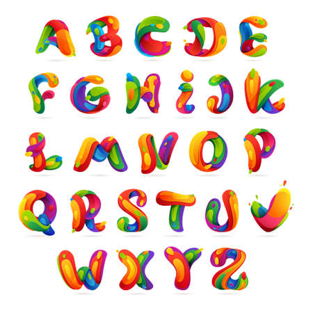 letters of the alphabet: Letter multicolored vector design template elements for your application or corporate identity.