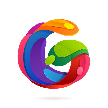 letter g: Letter multicolored vector design template elements for your application or corporate identity.