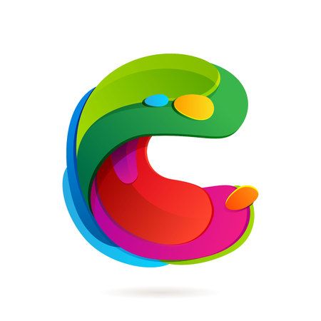 letter c: Letter multicolored vector design template elements for your application or corporate identity.