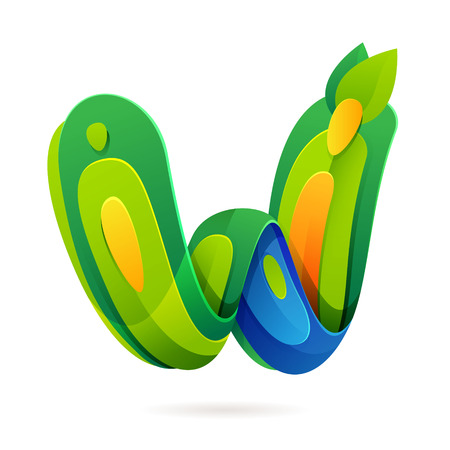 font design: Letter multicolored vector design template elements for your application or corporate identity.