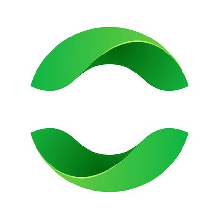 Yin yang, le volume coloré concept. Template vecteur de conception éléments pour votre application ou de l'identité d'entreprise.