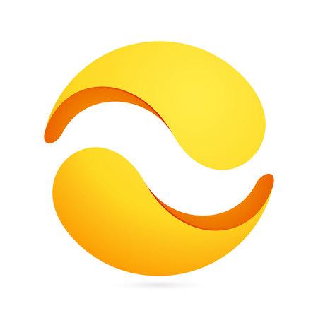 espiral: Yin yang, colorido concepto volumen. Vector de elementos de plantilla de dise�o para su aplicaci�n o identidad corporativa.