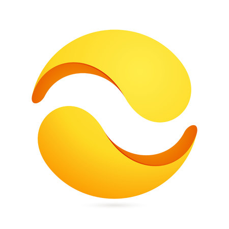 spiral: Yin yang, volume colorful concept. Vector design template elements for your application or corporate identity.