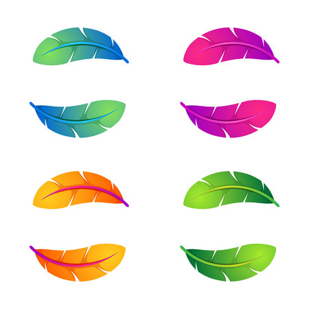 Yin yang, volume colorful concept. Vector design template elements for your application or corporate identity.