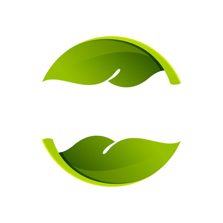 leaf: Yin yang, volume colorful concept. Vector design template elements for your application or corporate identity.